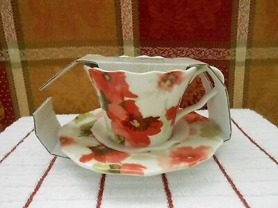 """222 Fifth """" Alicia"""" Coffee Cup & Saucer Set New"""