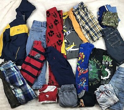 Lot Of 21 Pc Boys Sz 6 (& 7) Clothes Shorts Shirts Jacket Place Old Navy *Read