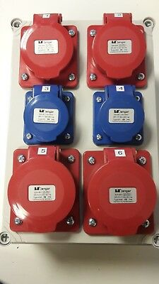 3 phase generator distribution board splitter,3,4,5 Pin CEE sockets,hook up