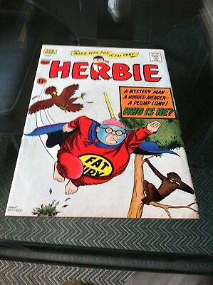 HERBIE - The Fat Fury 60's cult comics THE ULTIMATE SUPERHERO # 8- MARCH  1965