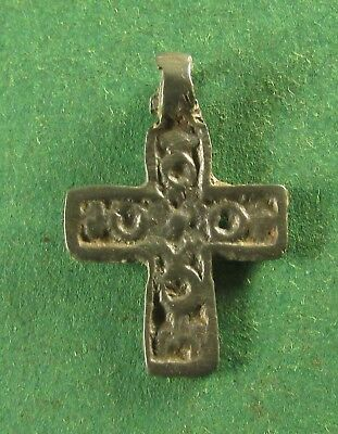 Ancient Russian Bronze Cross  XV-XVI Century! (D1086)