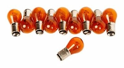 10x 2357 AMBER VINTAGE TAIL LIGHT REAR BRAKE STOP TURN SIGNAL LAMPS BULBS 2357NA