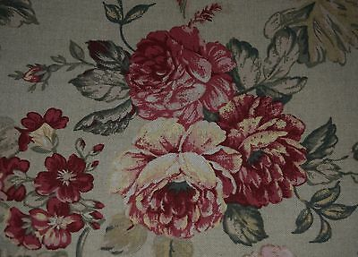 "Shabby Chic Tablecloth Antique Rose Red 48x49""Topper Green French Country Custom"