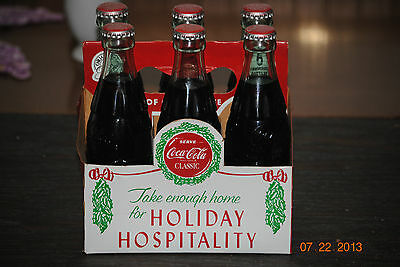 Vintage six pack of 1923 Bottles of Coca Cola w/Carrier - Holiday Hospitality