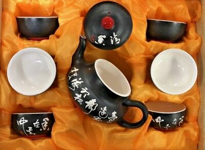 6pcs Chinese Kung Fu Tea Set Clay Teapot Set for Best Gift Box