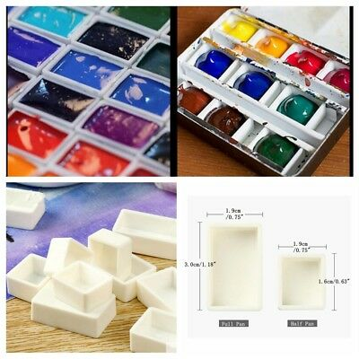 10 pcs Artist Empty Pan Full or Half Pans For Watercolour Painting Water Colour