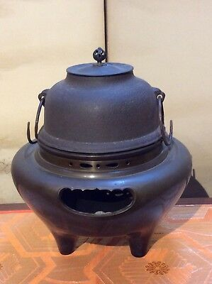 Japanese Antique Chagama Kettle Furogama Tetsubin Tea Ceremony Wind Furnace