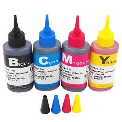 100ml Universal Color Ink Cartridge Refill Kit for HP & Canon Series Printers AU