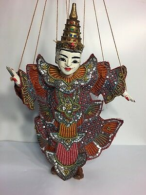 Antique Embroidered Chinese Doll Puppet