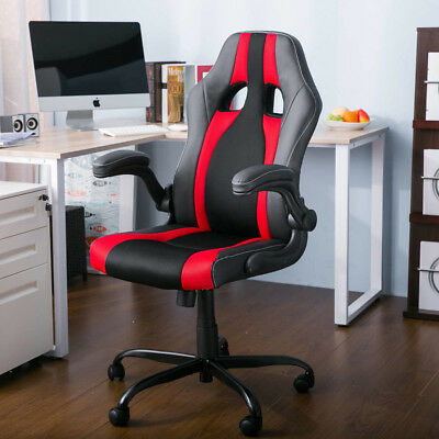 New High Leather Mesh Office Swivel Chair Executive Racing computer Gaming Style