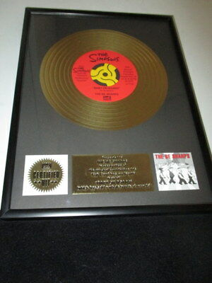 The Simpsons Baby On Board Be Sharps Promo Gold Record Plaque Award Very Rare
