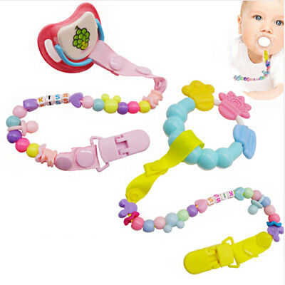 Pacifier Clips Chain Dummy Pacifier Holder Clip Nipple Holder Soother Chain