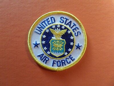 UNITED STATES AIR FORCE Embroidered 3 x 3 Iron On  Patch