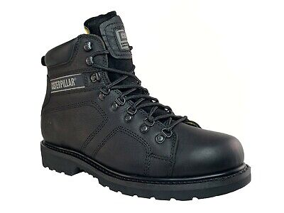 Caterpillar SILVERTON SG ST  Steel Toe  Mens Work  Safety Black Leather Boots