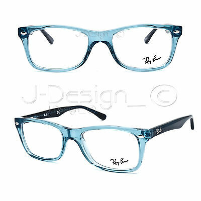 0bcb0641c24 RAY BAN RB 5228 5235 Transparent Blue 50-17-140 Eyeglasses Rx - New  Authentic