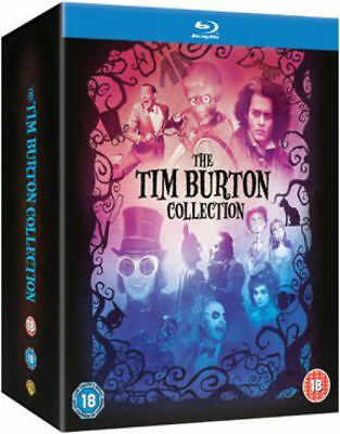 Tim Burton 8 Film Collection Blu-ray Batman,Beetlejuice,Mars Attacks Boxset New
