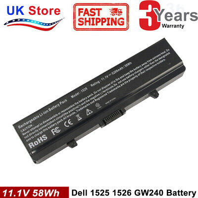 new Laptop Battery for Dell Inspiron 1525 1526 1545 1546 GW240 X284G RN873