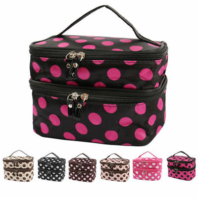 Portable Travel Makeup Toiletry Case Pouch Organizer Cosmetic Storage Bag USA