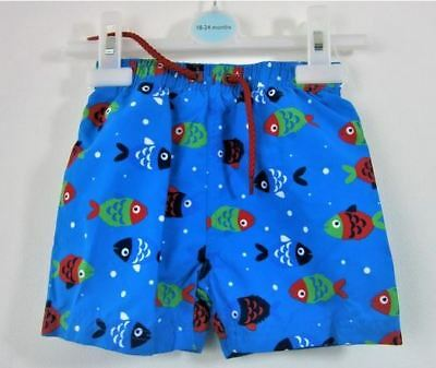 Ex John Lewis Baby Boys Fish Swim Swimming Trunks Shorts Age 3 6 9 12 18 24 Mth