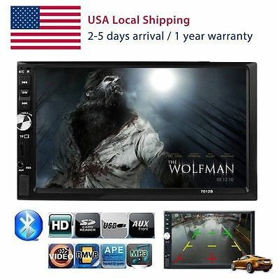7'' HD LCD Bluetooth Touch Screen Car Stereo Radio Player 2 DIN In Dash MP3 MP5