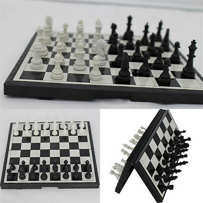 Magnetic Folding Chessboard Chess Board Box Set Portable Kids Game Toy Puzzle BK