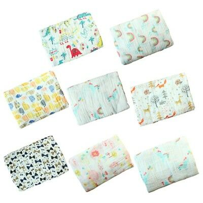 Newborn Cotton Swaddle Muslin Blankets Baby Swaddle Wrap Bedding Blanket 2 Layer