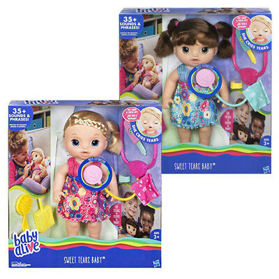 Baby Alive Dolls Sweet Tears Interactive Girls Doll Hasbro Assorted NEW