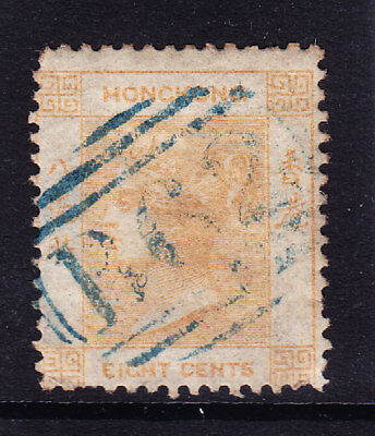HONG KONG Queen Victoria 1862 SG2 8c yellow-buff no wmk good to fine used cat£85