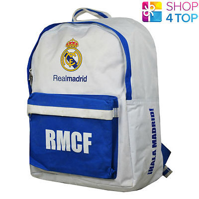 Real Madrid Backpack Bag White School Football Soccer Club Team Official New