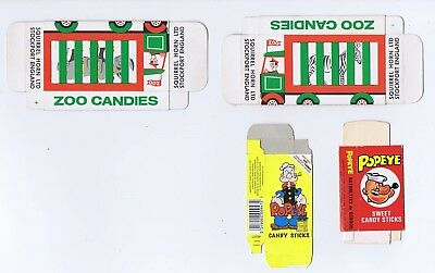 Popeye And Zoo Candies Sweet Packets X 4 Nice Set