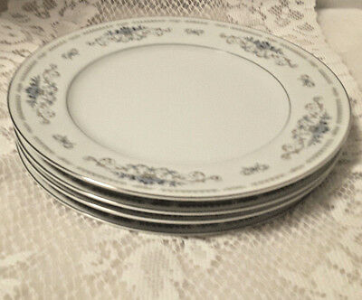 Wade Fine Porcelain China of Japan Dishes Diane 10-1/4 inch- 4 Dinner Plates