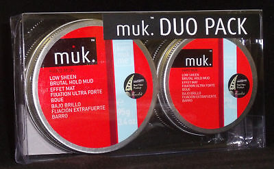Hard Muk Hair Wax Gift Pack- 1x 95g & 1x 50g Brutal Hold Clay