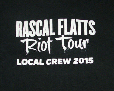 Rascal Flatts CREW ONLY T Shirt XL Life is a Highway Riot Tour 2015