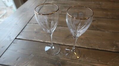 2 LENOX Crystal Wine Glasses 7 7/8inches