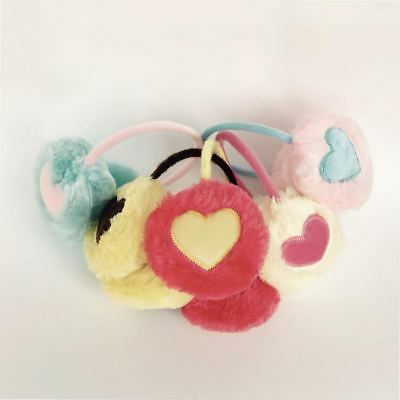 Fur Heart Design Plush Winter Earmuffs Women Girls Warm Fashionable Cover HOT