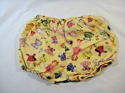 Vtg. Yellow Doll/Doll Clothes Print Babies Child Underpants/Shorts