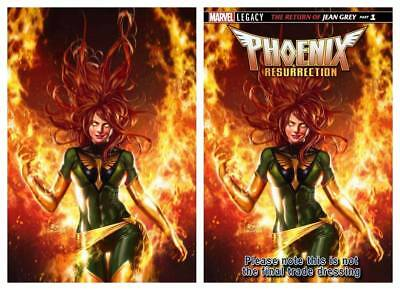 Phoenix Resurrection Return Jean Grey #1 In Hyuk Lee Virgin Variant Set Ltd 600
