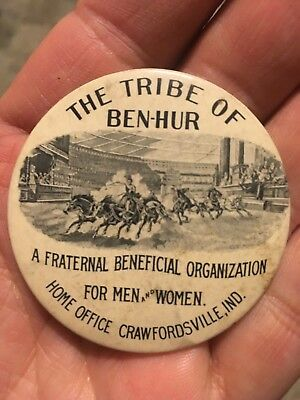 The Tribe of Ben-Hur Advertising Mirror Crawfordsville Indiana