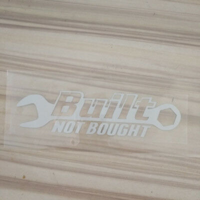 Funny Built Not Bought SILVER Reflective Car Sticker Decal For JDM Drift Hoon
