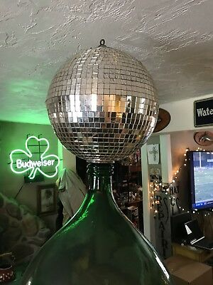 Vintage Antique Old Disco Mirror Ball Large Dance Floor Original