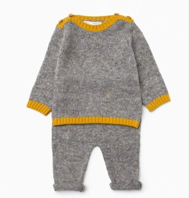 ZARA MINI BABY COLLECTION Boy Girl Knit two piece Knitted Outfit  9/12 Months