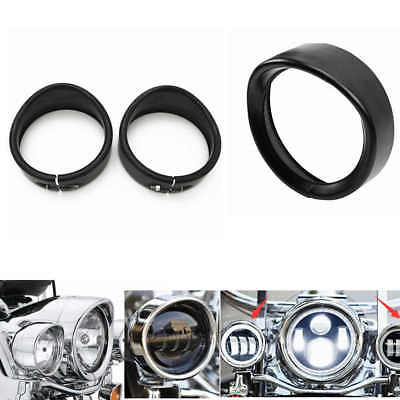 """Bikers Choice 7 """" Visor Headlight  and 4.5 inch Auxiliary Lamp Trim Beauty Ring"""