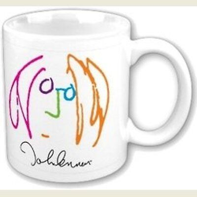 John Lennon Imagine Drawing Self Portrait White Coffee Mug Boxed Official Gift