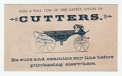 RARE Advertising Trade Card  L McCord Eastern Carriage Wagon  Rochester NY  1880