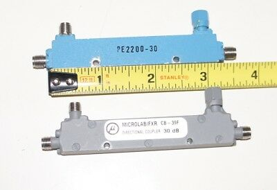 30 dB Directional Couppler 0.5 to 1 GHz SMA Pasternack PE2200-30 Microlab CB-39F