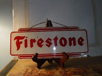 Original FIRESTONE Tire Rack Display Sign Gas Oil OLD Station Car Truck