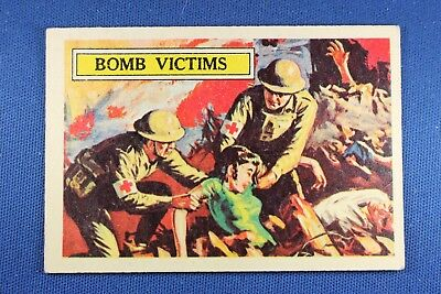 1965 A&BC (England) Battle Cards - #50 Bomb Victims - VG/Ex Condition