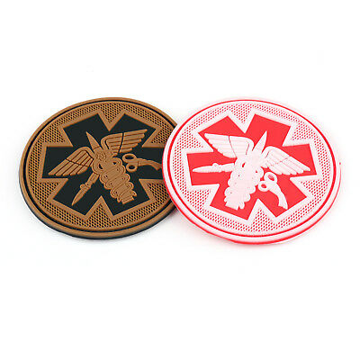 Ems Medic Cross Star Emt Tactical Army Morale Airsoft 3D Pvc Rubber Hook Patch