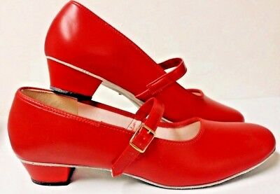 Barbettes womens size 11W Red  Dance Shoes Clogging Tap jazz square ballroom