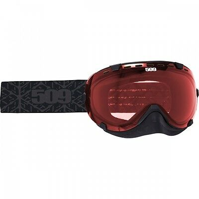 509 AVIATOR SNOW GOGGLES -BLACK with Rose Tint Lens -Snowmobile-Snocross - NEW
